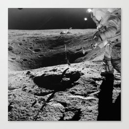 Apollo 16 - Moon Astronaut Crater Canvas Print