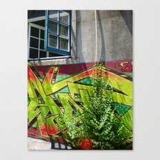 Sunny Graffiti  Canvas Print
