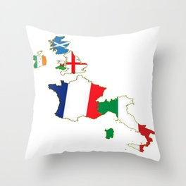 Six Nations Championship Throw Pillow