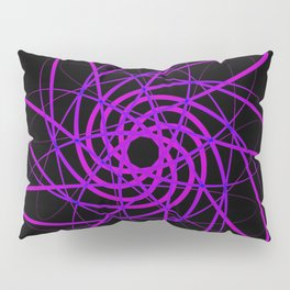 Light trails blue on a black background. Pillow Sham