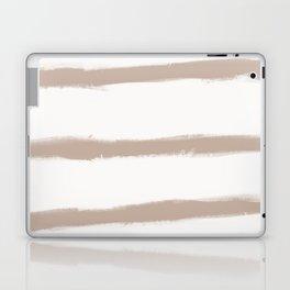 Medium Brush Strokes Horizontal  Nude on Off White Laptop & iPad Skin
