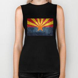 State flag of Arizona, the 48th state Biker Tank