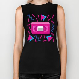 VHS Tapes • White Background Biker Tank