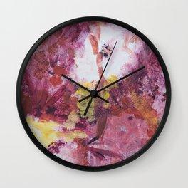flor on canvas Wall Clock