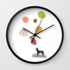 the thinking dog Wall Clock