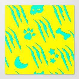 Werewolf Weather in Claws Canvas Print