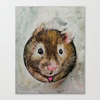 hamster Canvas Prints featuring Hamster Love by Michael Creese