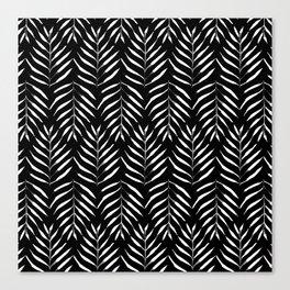 Black and white Palms Canvas Print