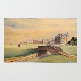 St Andrews Golf Course Scotland 18th Hole Rug