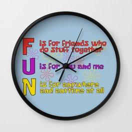 FUN Quotes Wall Clock
