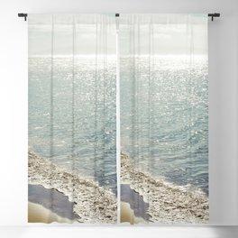 beauty and the beach Blackout Curtain