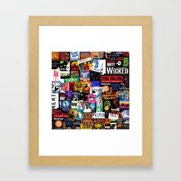 Musicals Collage Framed Art Print