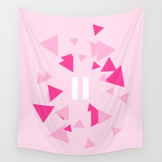 Opposite III Pause Pink Wall Tapestry