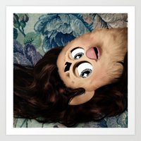 marina and the diamonds Art Prints featuring Furby Marina and the Diamonds - The Family Jewels by Furby Living