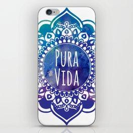 Pura Vida Watercolor Mandala iPhone Skin