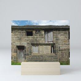 ancient stone farmhouse- west yorkshire Mini Art Print