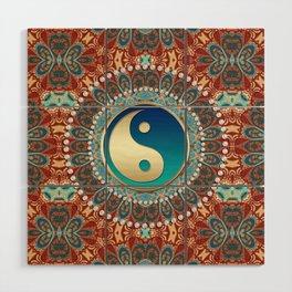 Bohemian Batik Yin Yang Wood Wall Art
