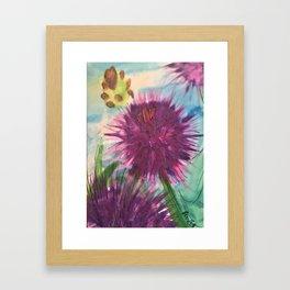 Purple Thistle Growing Framed Art Print