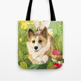 The Faerie and the Welsh Corgi Tote Bag