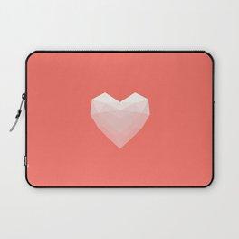 Modern Love - White on Pink Laptop Sleeve