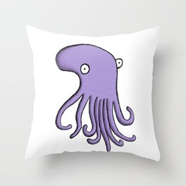 Purple Octopus Throw Pillow