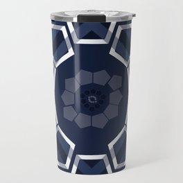 GeoFlower Blue Travel Mug