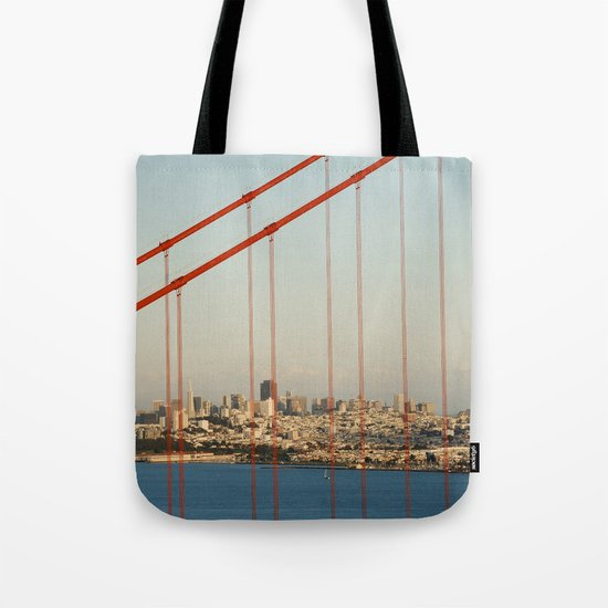 Golden San Gate Francisco Bridge Tote Bag