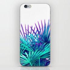 Cool modern teal purple gradient artistic palm tree tropical plants iPhone Skin
