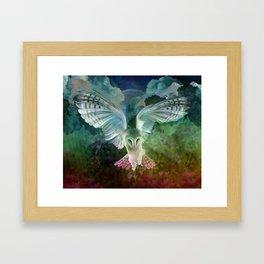 """""""Owl flight and spring night"""" Framed Art Print"""