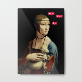 The Lady with an Ermine Influencer Metal Print