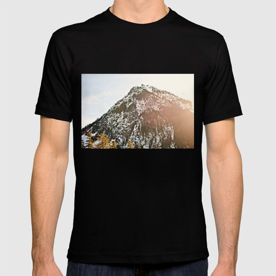 Snowy Mountain Peak in the Sun T-shirt