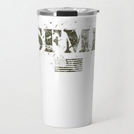 American Military USA Flag Pride Stand Aside SFMF Green Travel Mug