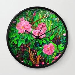 View of Rosa Rugosas (Moje Hammarberg) Wall Clock