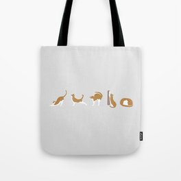 Cat Ballet Tote Bag