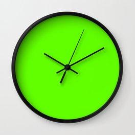 fluorescent neon green | solid colour Wall Clock