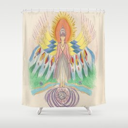 Protecting Spirit Shower Curtain