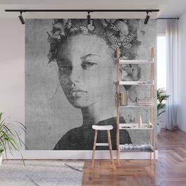 PORTRAIT (Woman with butterflies) Wall Mural