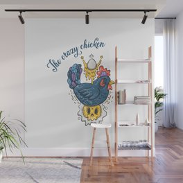 The crazy chicken Wall Mural