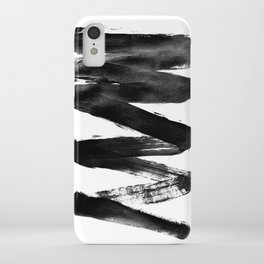 Black Lightning iPhone Case