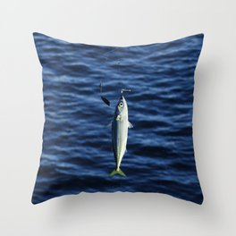 Hook, Line, and Sinker Throw Pillow