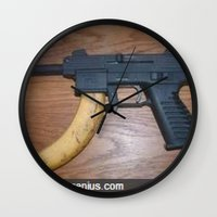 rap Wall Clocks featuring Rap Genius by grimelords
