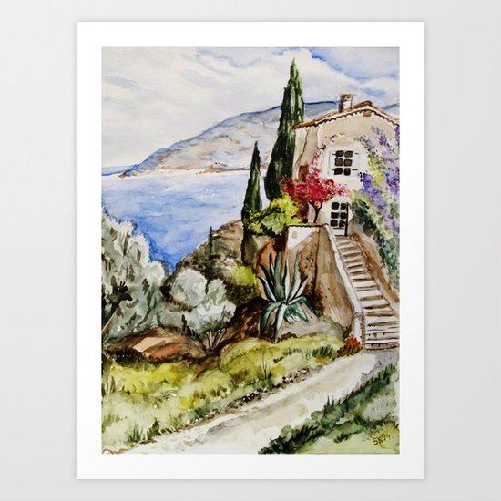 Èze Village Art Print