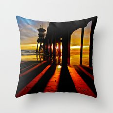 Surf City Sunsets   Throw Pillow