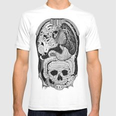 Gross Anatomy SMALL White Mens Fitted Tee