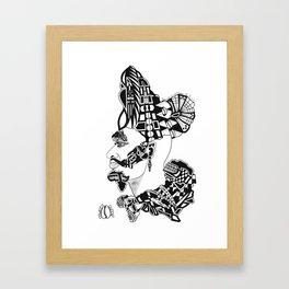 DARK AM I, YET LOVELY…; SOS 1:5 Framed Art Print