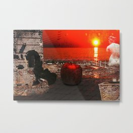 the apple that launched the thousand ships: the story of Troy Metal Print