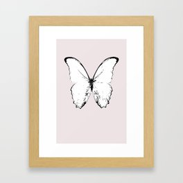 buttefly fly fly away Framed Art Print