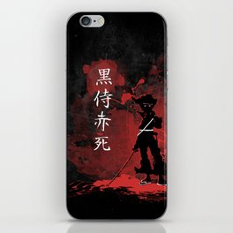 Black Samurai Red Death iPhone Skin