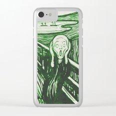 The Scream's Haze (green) Clear iPhone Case