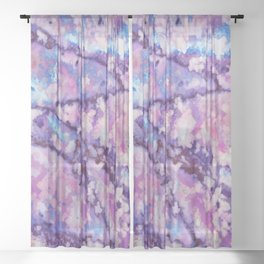 Violet and pink marble texture Sheer Curtain